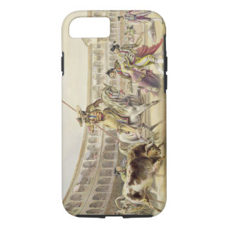 Bull Charging a Picador, 1865 (colour litho) iPhone 7 Case