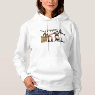 Bulldog pine up Army T Shirt