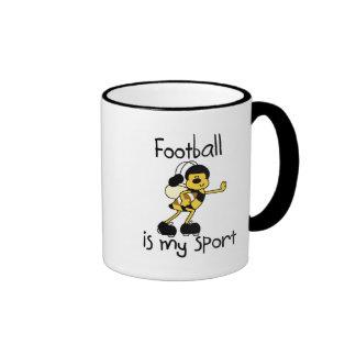 Bumblebee Football My Sport T-shirts and Gifts Ringer Coffee Mug