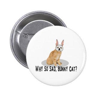 Bunny Cat Sad 2 Inch Round Button