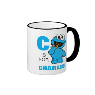C is for Cookie Monster Ringer Coffee Mug