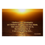 C.S. Lewis Christianity Quote Poster