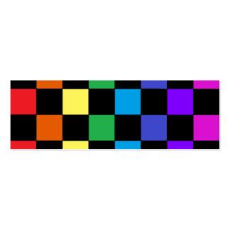 Cadeaux d'arc-en-ciel de gay pride - échiquier d'a carte de visite petit format