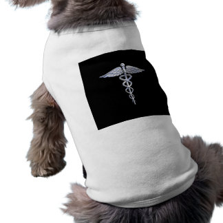 Caduceus Medical Symbol on Black Dog Tee