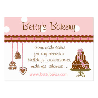 Cake and Cookies Bakery Business Card