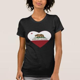california flag studio city heart tshirt