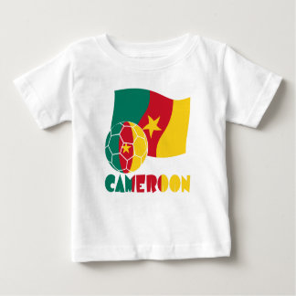 Cameroon Soccer Ball and Flag T-shirts