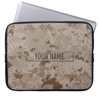 Camouflage de désert de Digitals personnalisable Housses Ordinateur Portable