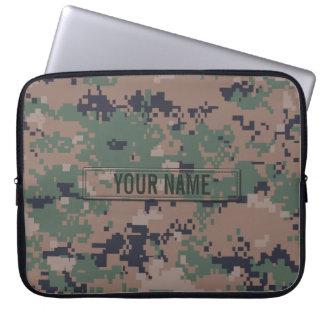 Camouflage de région boisée de Digitals personnali Housses Ordinateur Portable