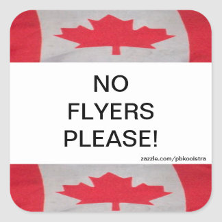 Canada Flag No Flyers Please Sticker