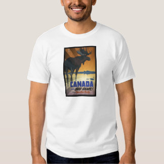 Canada for Big Game Vintage Travel Poster Shirts