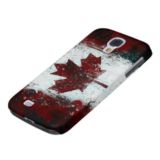 Canadian Flag grunge paint