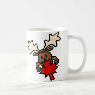 Canadian Moose Classic White Coffee Mug