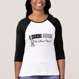 Cancer du cerveau gris de ruban d'usage de la tee-shirts