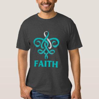 Cancer du col de l'utérus Faith Fleur de Lis Tee Shirts