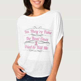Cancer du sein oui ils sont faux t-shirt