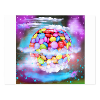 Candy Colorful Sweet Dessert Party Love Destiny Postcard