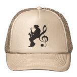 cap saxophoneplayer silhouette (G-key) Trucker Hat