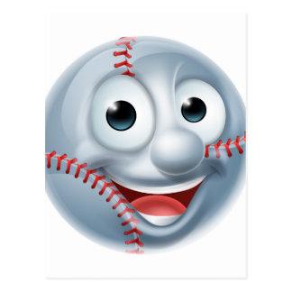 Caractère d'homme de boule de base-ball de bande carte postale