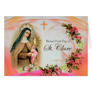 Card for the Feast Day of St. Clare, Franciscan
