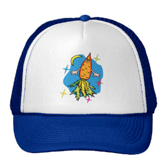 Carrot Rocket Ship: Also known as Fast Food Trucker Hat