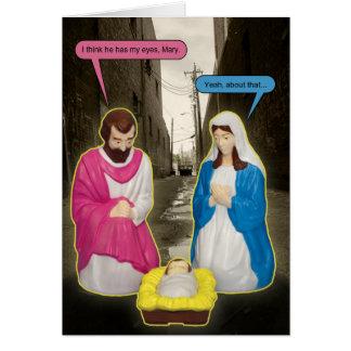 Carte de Noël de Jésus de bébé de décharge