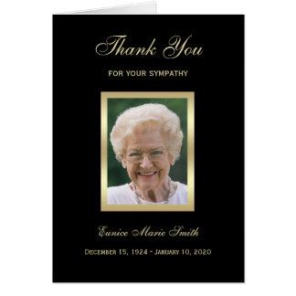 Carte de note commémorative de Merci de sympathie