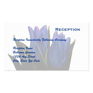 Carte de réception de tulipes bleues carte de visite standard