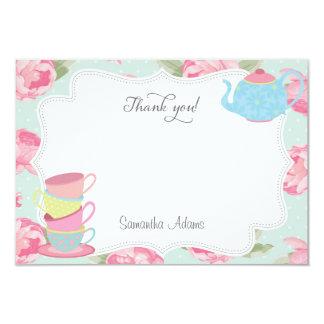Carte de remerciements chic minable de thé carton d'invitation 8,89 cm x 12,70 cm