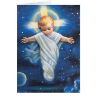 Carte de voeux de Noël/bébé Jésus