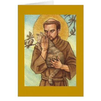 carte vierge St Francis de note et chat