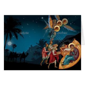 Cartes de Noël orthodoxes russes de nativité