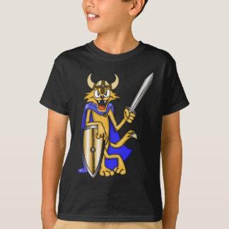 Cartoon Cat Viking Warrior Tees