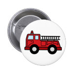 Cartoon Clip Art Firetruck Emergency Vehicle Truck 2 Inch Round Button