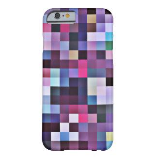 Cas de l'iPhone 6 de carrés de pixel - pourpres Coque Barely There iPhone 6