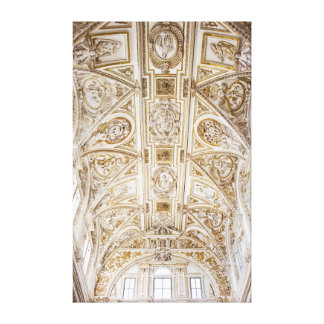 Cathedral Ornate Ceiling in Cordoba Gallery Wrapped Canvas