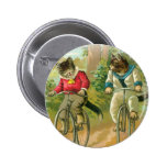 Cats Riding Bikes 2 Inch Round Button
