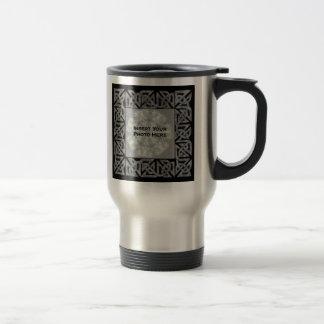 Celtic Knots Design Photo Travel Mug