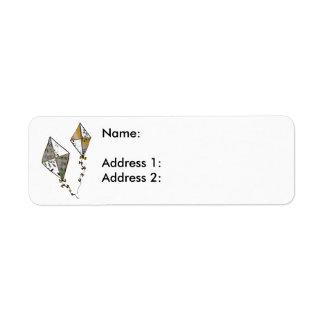 Cerfs-volants Étiquette D'adresse Retour