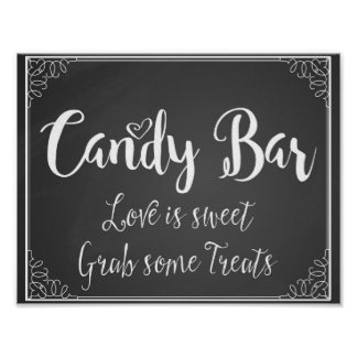 Chalkboard Candy Bar wedding or party print