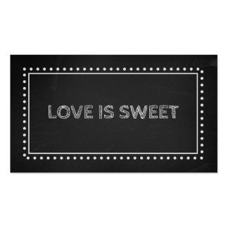 Chalkboard Wedding Favor Recipe Tags Business Card