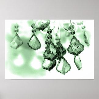 Chandelier (Green) Poster