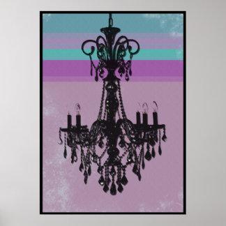 Chandelier - Purple Grunge Poster