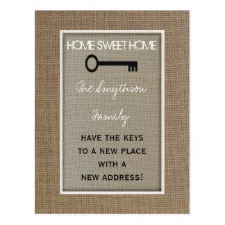 Change of Address Postcard - Key
