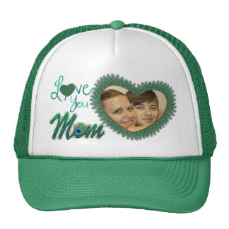 Chapeaux de photo du jour de mère casquettes