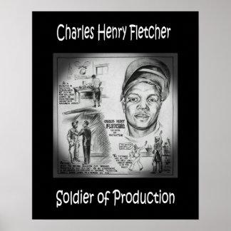 Charles Fletcher ~ Soldier of Production ~ Welder~ Poster