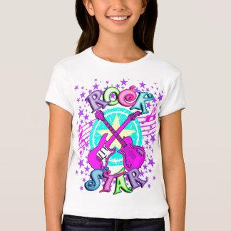 Chemise de vedette du rock de la fille t-shirts