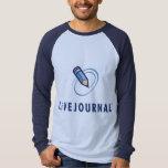 Chemises de base-ball (verticale de logo) tshirt