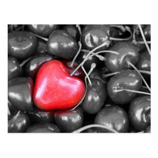 cherries and heart postcard