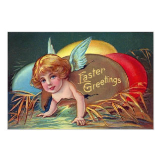 Cherub Angel Cupid Colored Painted Easter Egg Photo Print